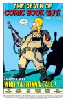 The death of comic book guy, probably another fake out much like the death of Sadsack.