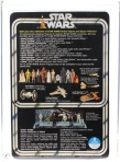 "Brian's Toys 12 Back Set Index tracks the value of the original 12 Star Wars action figures over time. The first design of the card back (above) featured all 12 original Star Wars action figures, thus resulting in the term ""12 back""."