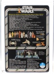 """Brian's Toys 12 Back Set Index tracks the value of the original 12 Star Wars action figures over time. The first design of the card back (above) featured all 12 original Star Wars action figures, thus resulting in the term """"12 back""""."""